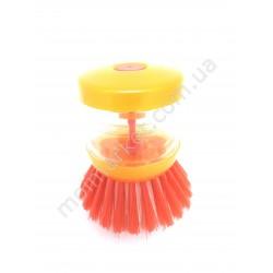 HI444 Щетка для мытья посуды с дозатором для моющего (420 шт в ящ)