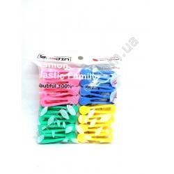 HI327 Прищепка пластик, цветная, 16 шт (144шт в ящ)