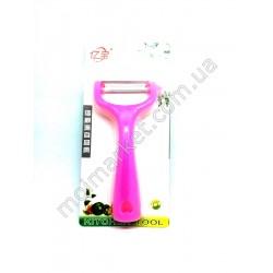 HI1082 Экономка для чистки овощей, нож,пластик, 14см, блис.(240шт в ящ)