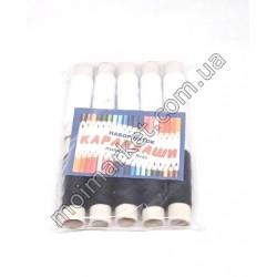HI749 Нитка для шитья Карандаши, черно-белые (250шт в ящ)
