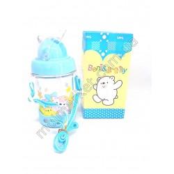 HI302 Поильник детский, чашка с трубочкой, 350мл (72шт в ящ)
