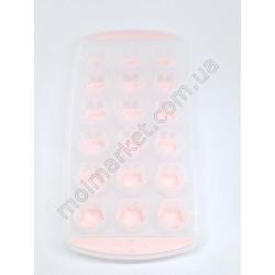 HI739 Форма для льда, конфет, силикон, 12-ти шт., форма Квадрат(180шт в ящ)