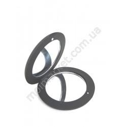 HI618 Зеркало карманное, круглое, черное