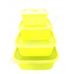 HI208 Судочки для хранения продуктов, набор 4 шт. (64шт в ящ)