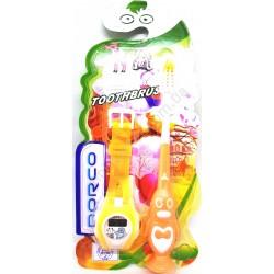 """HI538 Зубная щетка детская с игрушкой """"Часы"""" (288шт в ящ)"""