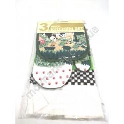 HI90 Набор кухонный перчатка, прихватка, полотенце, 3-х шт.,(240шт в ящ)