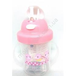 HI360 Поильник детский, чашка с трубочкой, 200мл (120шт в ящ)