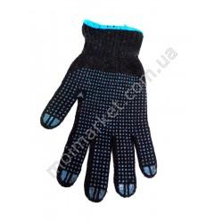 HI1021 Перчатки черн. ПВХ с точкой (600шт в ящ)