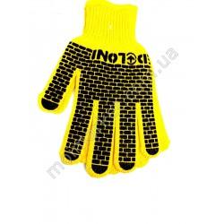 HI1016 Перчатки х/б Daloni, желтые (600шт в ящ)