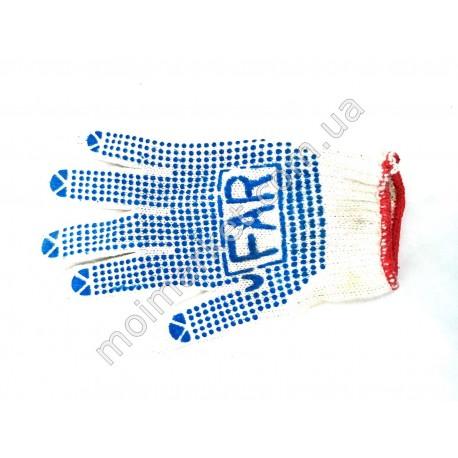 HI877 Перчатки ФАР, ПВХ с точкой (600шт в ящ)