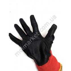 HI1018 Перчатки стрейч цв., покрыта латексом (300шт в ящ)