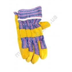 HI1024 Перчатки робочие, х/б замш (300шт в ящ)