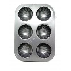 HI215 Форма для выпечки кексов, металлическая, 6-ти шт. (100шт в ящ)