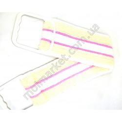 HI142 Мочалка для спины, пластиковая ручка (240шт в ящ)