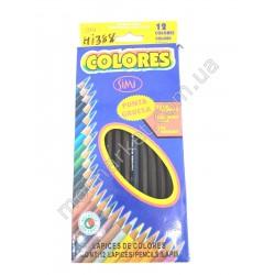 HI388 Карандаши детские, цветные, 12-ти шт (260шт в ящ)