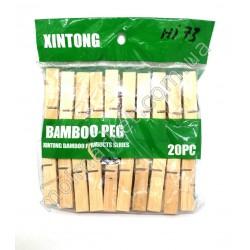 HI73 Прищепка бамбуковые, 20шт. (250шт в ящ)