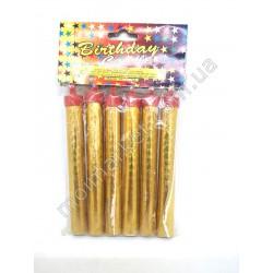 HI107 Свечи - фейерверк в торт, 6 шт., 10см (400шт в ящ))