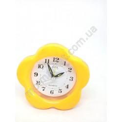 HI281 Будильник-цветок, желтый, пластик (200шт в ящ)